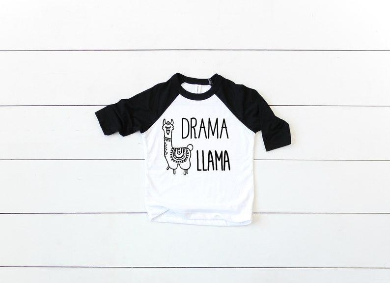 Drama Llama Kids Shirt  Baseball Tee  Raglan  Funny Toddler Shirt  Unisex  Gender Neutral