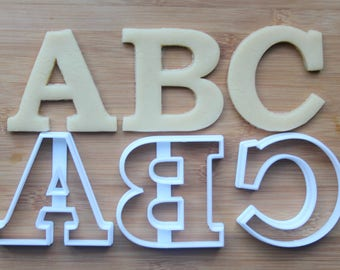 alphabet letter cookie cutter 3d printed choose your letter letter cookie cutters abc cookie cutter name cookie cutters
