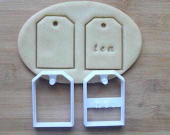 Tea Bag Cookie Cutter 3D Printed  | Tea Party Cookies \ Bridal Shower Cookie Cutter \ Baby Shower Cookies \ Tea Lover Gift \ Teabag
