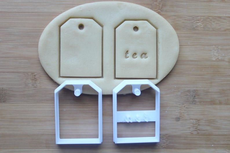 Tea Bag Cookie Cutter 3D Printed   Tea Party Cookies  Bridal image 0