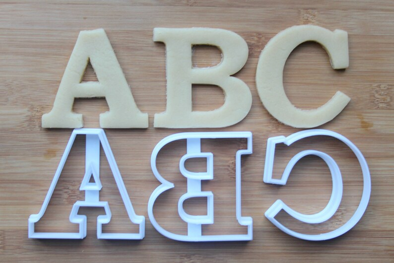 Alphabet 26 Letters Cookie Cutters 3D Printed Full Set | Letter Cookie Cutters /... Alphabet 26 Letters Cookie Cutters 3D Printed Full Set | Letter Cookie ...