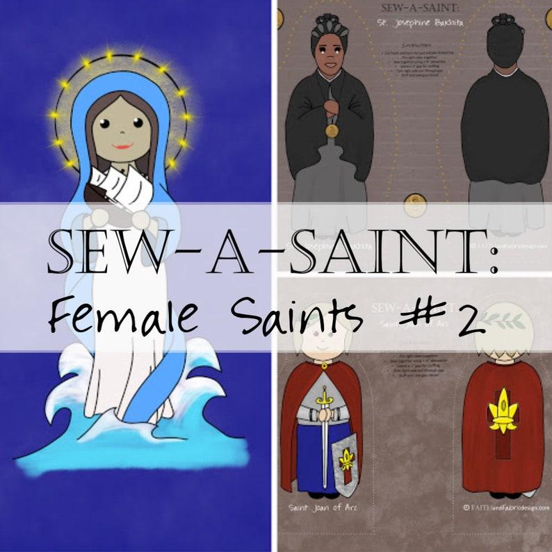 Fabric: Sew a Saint Doll Female Saints Set II Catholic image 0