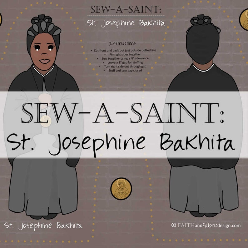Fabric: Sew a Saint Doll Female Saints Set II Catholic St. J Bakhita