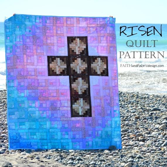 Christian Easter Quilt Pattern Risen Etsy