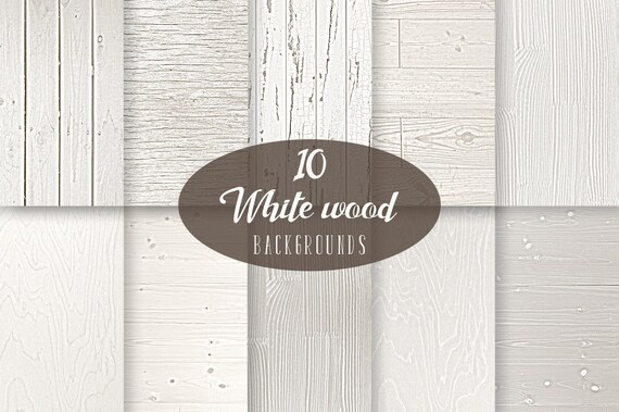 White Wood Digital Paper Texture Light