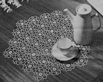 Charmant Motif Coffee Table Mat Vintage Pattern