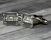 Typewriter Cufflinks - Typewriter Cuff Links - Wedding - Mens Accessories - Mens Gift - Gifts for Writers - Gifts for Him - Typewriter