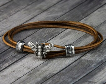 Leather Bracelet Etsy