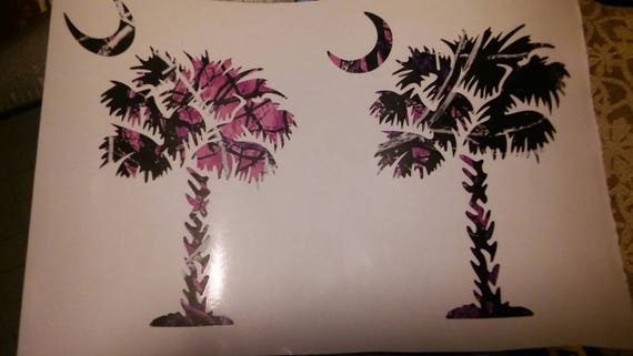 Muddy Girl Palm Tree and Moon 5/'/' Decal
