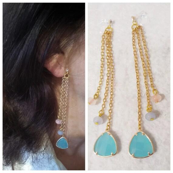 DV Jewels Handmade Rose Quartz Gemstone Earrings