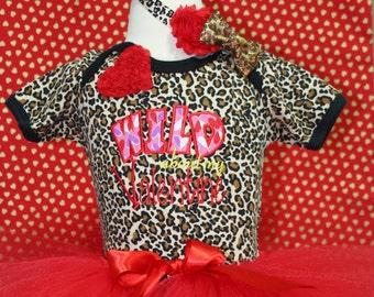 Valentines Day, Valentine shirt, bodysuit, baby tutu, red, animal print, red tutu, baby headband, Valentine Day, baby girl clothes