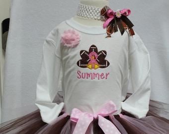 Girls Thanksgiving, personalized,Thanksgiving shirt, sibling, Football, brown, pink, girl tshirt, girl t shirt, girls tshirt, girls t shirt