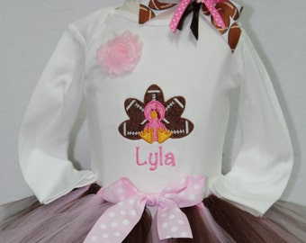 Baby girl,Thanksgiving outfit, Thanksgiving, baby girl clothes, girls Thanksgiving outfit, bodysuit, turkey, personalized, pink, brown,