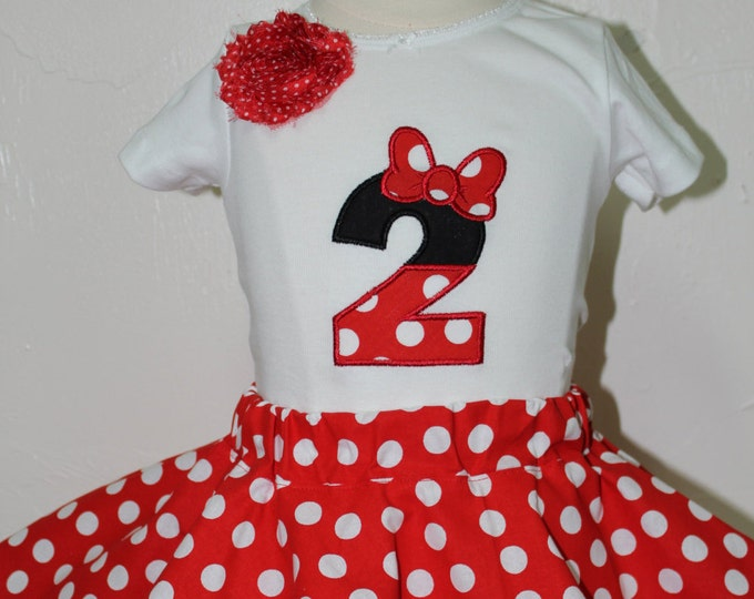 Featured listing image: Minnie Mouse, Disney, birthday, 2nd birthday, disney shirt, Disney World, t shirt, Minnie Mouse party, personalized, Minnie Mouse ears