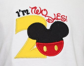 Mickey Mouse, Mickey Mouse shirt, 2nd birthday, disney, disney shirts, tshirt, t shirt, t-shirt, baby boy, personalized, birthday, custom