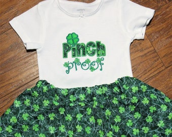 St Patrick's Day, St. Patrick's Day shirt,  girls tshirt, girls t shirt, t-shirt, toddler girl shirt, personalized, skirt, green, shamrock