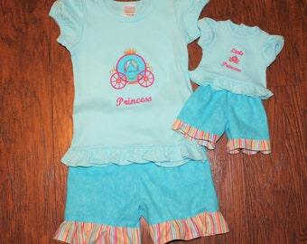 American, girl doll, doll clothes, 18 inch doll clothes, t shirt, tshirt, t-shirt, birthday gifts, princess, blue, pink