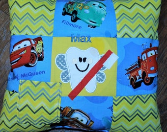 Cars, Tooth Fairy Pillow, Lightening McQueen, Fillmore Tooth fairy pillow, boy tooth fairy pillow, boy pillow, boys pillow, throw pillow