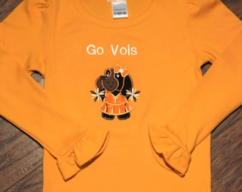 Tennessee, volunteers, Orange, White, girls clothing, girl clothing, Tennessee shirt, tshirt, t shirt, t-shirt, hounddog