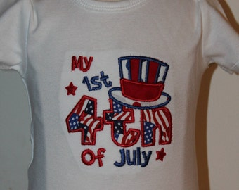 4th of July, 1st 4th of July, first 4th of July, bodysuit, baby boy, baby girl, baby boy clothes, baby girl clothes, baby tutu, red, blue