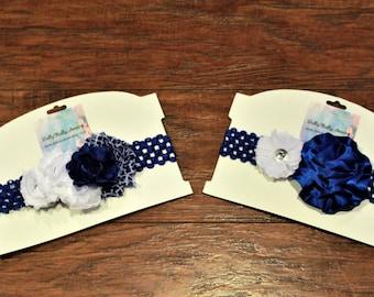 Kentucky,  wildcats, baby headbands, girls headbands, royal blue, white, headband, baby shower gift, baby girl gift, blue headband