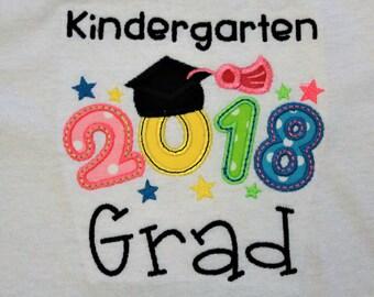 Kindergarten, graduation, t shirt, tshirt, girls t shirt, girl shirt, custom, personalized, shirt, handmade, t-shirt, graduation cap,