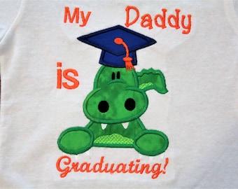 Florida, gators, graduation, Daddy, Mommy, college graduation, gator, graduation cap, baby boy, baby girl, bodysuit, t shirt, tshirt