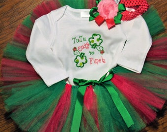St. Patrick's Day, first St. Patrick's Day, 1st St. Patrick's day, baby girl clothes, baby girl, girls St. Patricks Day, baby tutu, green