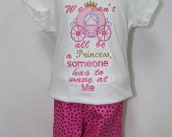 Princess shirt, Cinderella, Disney, Princess Carriage, Girls shirts, Toddler shirt, t shirt, tshirt, t-shirt, pink, polka dot, ruffle pants