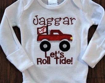 Alabama, football, personalized, custom, handmade, Crimson Tide, baby boy clothes, Roll Tide, bodysuit, Bama, baby shower gift,new baby gift