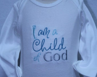 Baby boy clothes, Baby shower gift, baby boy gift, new baby gift, baptism, bodysuit, LDS, blessing, religious, Easter shirt, Easter bodysuit