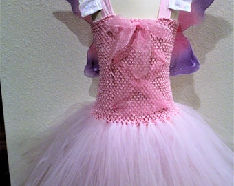 Pink butterfly, pink fairy costume, fairy princess costume, Halloween costume, girls Halloween costume, fairy wings, fairy wand, pink tutu