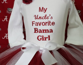 Alabama, bodysuit, baby girl, baby shower gift, baby girl gift, baby girl clothes, Uncle, Aunt, daddy, mommy