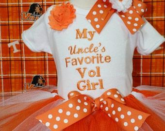 Tennessee, volunteers, baby girl clothes, baby girl, baby shower gift, baby girl gift, bodysuit, baby tutu, orange, white, tshirt