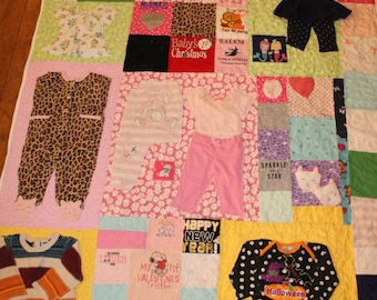 First year quilt, baby,  memory, quilt, baby clothes quilt,  memory quilt, custom, tshirt quilt, t shirt quilt, baby blanket, personalized