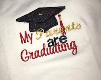 Graduation, tshirt, t shirt, t-shirt, bodysuit, graduation cap, college graduation, black, red, Georgia, baby girl clothes, baby boy
