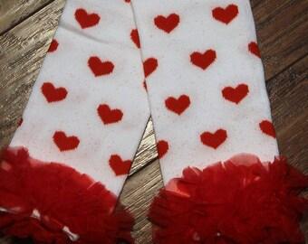 Valentine's Day, Valentine Leg Warmers, Red, hearts, Valentines Day,  accessories, girl leg warmers, girls clothes, socks, heart leg warmers