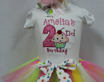 Second birthday, 2nd birthday, 2nd birthday outfit, birthday shirt, birthday, cupcake, shirt, personalized, custom, tshirt, t shirt