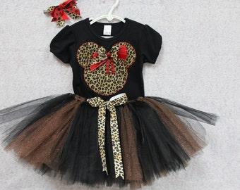 Minnie Mouse, Disney, girls clothes, baby girl clothes, shirt, tshirt, t shirt, t-shirt, black,red, tutu, Disny World,  Animal Kingdom