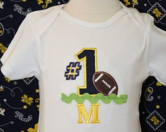 Michigan, wolverines, maize and blue, baby Wolverine bodysuit, football, baby shower gift, new baby gift