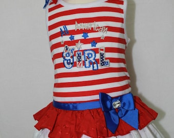 Fourth of July Dress, 4th of July Dress, Red, white, blue, sundress, baby girl clothes, baby dress, USA, Independence day, stars
