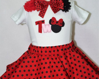 Minnie Mouse,Second birthday, 2nd birthday, birthday, girl birthday, Disney, girl clothes, girl t shirt, tshirt, t-shirt, disney shirt
