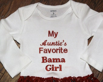 Alabama, baby girl clothes, baby girl, roll tide, crimson tide, bodysuit, baby shower gift, baby girl gift, new baby gift, Aunt, Uncle,