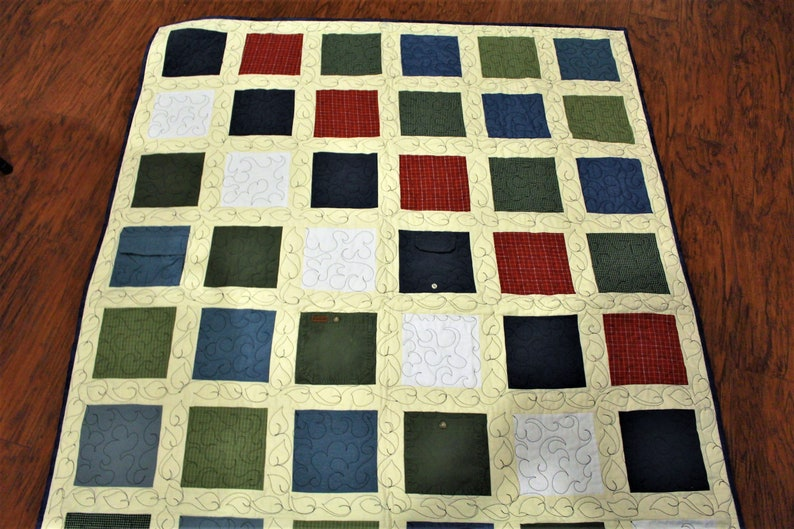 patchwork mourning recycled clothing quilt sympathy gift custom gift for mom quilts handmade personalized Memory quilt grief