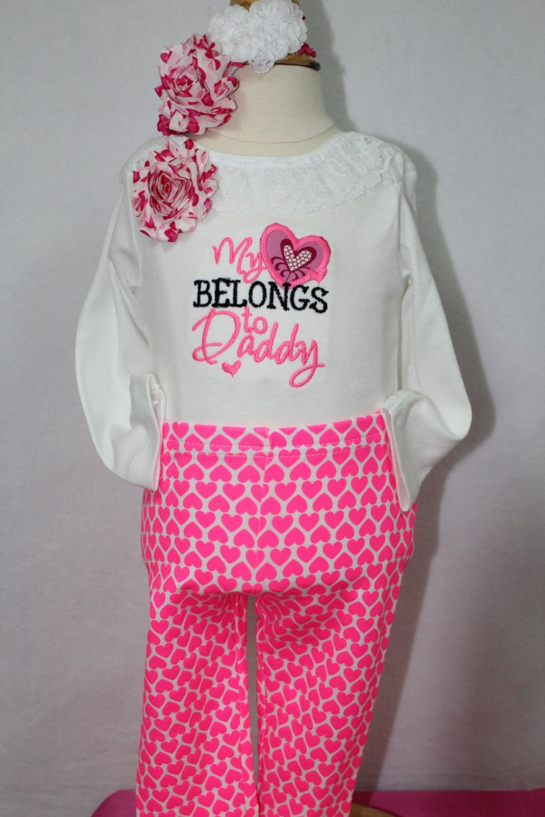 db550ebd1082f1 Baby girl Valentine s Day outfit pink Valentine outfit