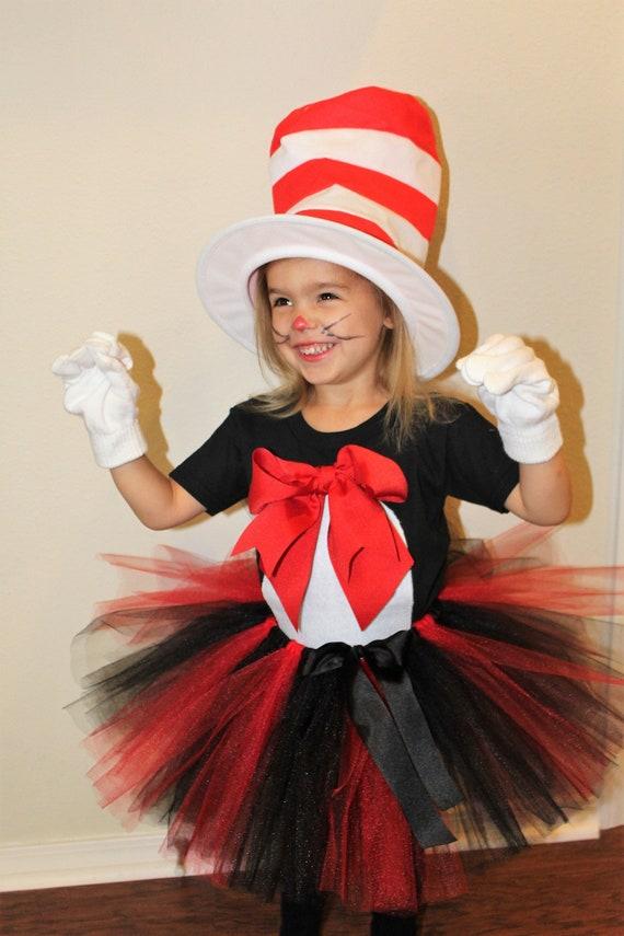 4ad59740 Cat costume black cat costume cat hat black red | Etsy