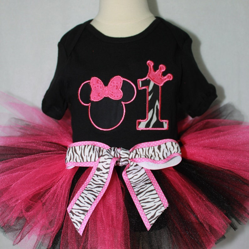 Minnie Mouse Inspired Girl 1st Birthday Outfit Girls First