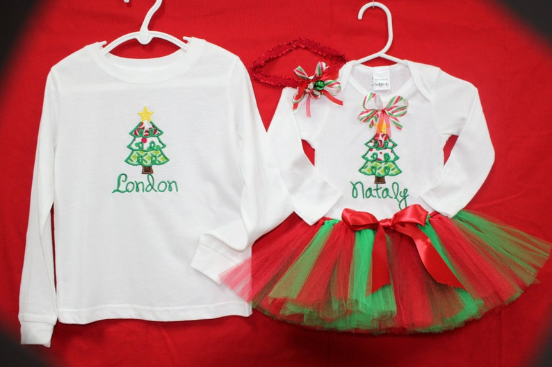 1170ecd88 Christmas baby girl outfit sibling Christmas shirts | Etsy