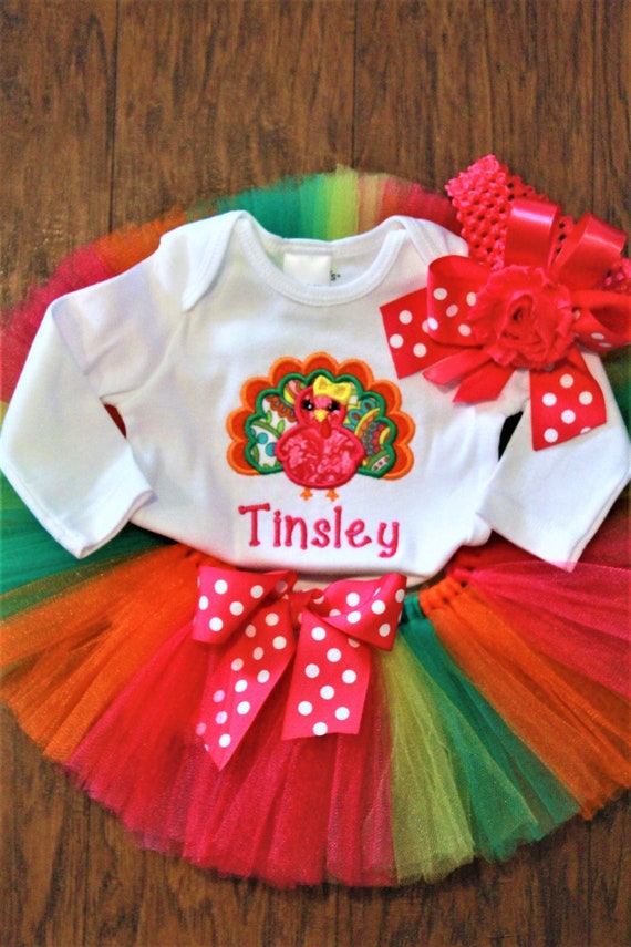 9cd7cd4af Thanksgiving baby girl outfit girl baby clothes personalized | Etsy