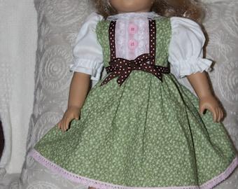 """Doll dress, 18"""" doll dress, doll clothing, AG doll clothes, American girl, doll clothes, Christmas, Christmas gift, handmade, birthday gift"""